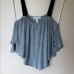 Forever 21 gray tank top with spaghetti straps